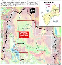 Oregon Lakes Map by Water Squeeze In Oregon U0027s Klamath Basin Pits Ranchers Against
