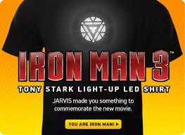 Iron Man Light Up Shirt Thinkgeek Join In Geek Out