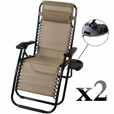 Zero Gravity Patio Chair by Best Choice Set Of 2 Zero Gravity Outdoor Patio Chairs Lounge