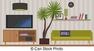 home interior vector vectors illustration of living room home interior kitchen living