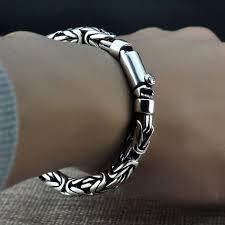mens silver jewelry bracelet images Men 39 s sterling silver byzantine chain bracelet jpg