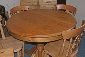 Pine Kitchen Table Fascinating Round Pine Kitchen Table Home - Pine kitchen tables and chairs