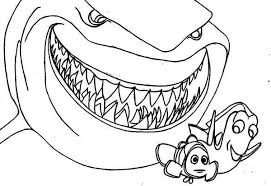 finding nemo and crush coloring pages finding nemo bruce coloring