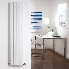 milano bora u2013 white flat vertical lightweight designer radiator