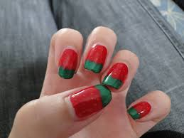 red and green nail artandnailsart red and green christmas nail