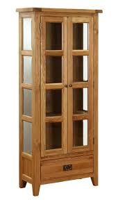 Oak Glazed Display Cabinet Cupboards Product Categories Pine And Oak