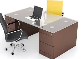 Office Glass Top Office Table Zampco - Designer office table