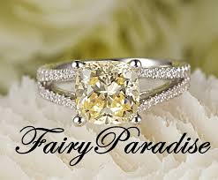 fancy yellow diamond engagement rings 2 5 carat cushion cut yellow diamond engagement ring promise