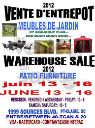 Patio Warehouse Sale Warehouse Sale Outdoor Furniture U0026 More Allsales Ca