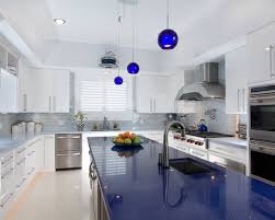 Blue And White Kitchen Cabinets Cooking In Blue 10 Inspiring Kitchens Styled In Blue Blue