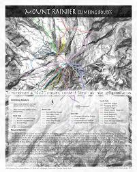 Mt Everest Map Mt Rainier Climbing Routes Mt Rainier Pinterest Hiking