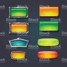 sizes options buttons set in metal frame different sizes options selection windows