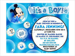 Free Mickey Mouse Baby Shower Invitation Templates - disney baby shower invitations templates u2013 diabetesmang info
