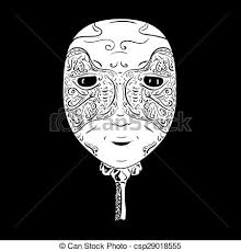 black venetian mask venetian mask venetian white mask on black clipart