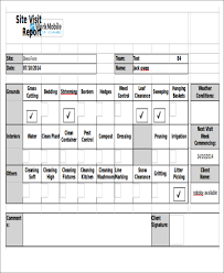 site visit report template visit agenda templates 9 free word pdf format free