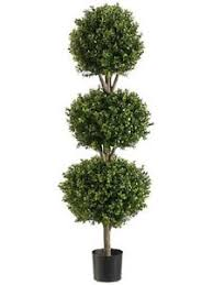 56 boxwood 3 topiary artificial tree w pot in outdoor plant