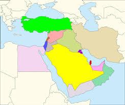 Middle East Geography Map by Clipart Middle East Map