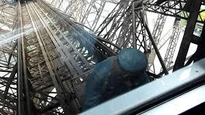 eiffel tower interior eiffel tower elevator ride youtube