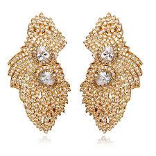 big stud earrings high quality big gold earrings cubic zirconia women stud earrings