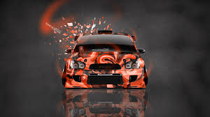orange subaru impreza wrx art subaru impreza wrx sti jdm tuning front domo kun toy car