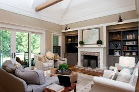 Living Room Cabinets Built In by Built Ins Around Fireplace Living Room Contemporary With Built In