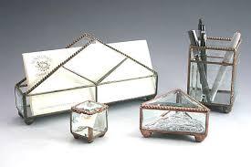 Desk Accessories Sets Sunflower Glass Studio Table Top Accessories
