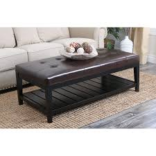 Ottoman Dimensions by Leather Storage Ottoman With Tray Coffee Tables Exquisite