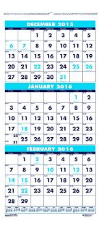 printable december 2016 calendar pdf amazon com house of doolittle three month compact calendar
