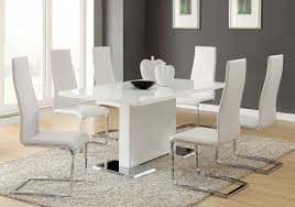 Black And White Upholstered Chair Design Ideas Dining Room Dining Room Modern Sets In Black And White Theme