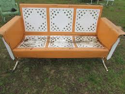 Antique Metal Patio Chairs Unrestored Metal 3seat Vintage Porch Gliders Vintage Metal