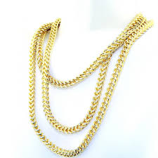 long yellow gold necklace images Yellow gold franco chain diamond jpg