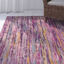 Area Rugs With Purple Bungalow Rose Andover Purple Area Rug U0026 Reviews Wayfair