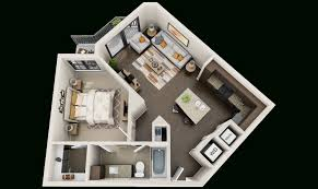 3d plan of flats for building 3d floor plans for apartments get