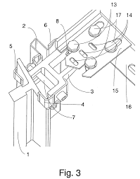Blank Southeastern States Map by Patent Us7165656 Elevator And Guide Fixing Bracket For An