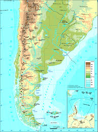 Italy Physical Map by Detailed Physical Map Of Argentina Argentina Detailed Physical
