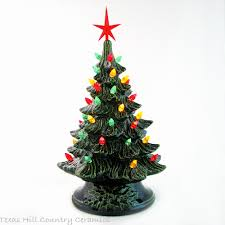 festive southwest ceramic christmas tree pepper color lights