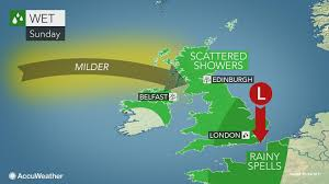milder air spreads across britain to close the weekend
