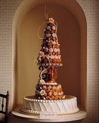 in france the traditional wedding cake called u201ccroquembouche u201d it
