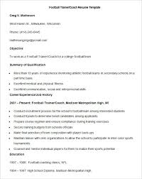 Football Coaching Resume Template 51 Teacher Resume Templates U2013 Free Sample Example Format