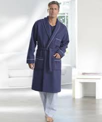 peignoir de chambre homme robe de chambre en maille courtelle manches longues nuit
