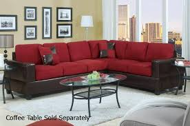 dark red leather sofa red leather sectional sofa steal a furniture outlet los modern 0