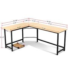 study table l tribesigns modern l shaped desk corner computer desk pc latop