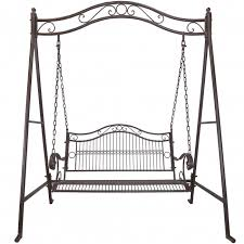 titan outdoor rustic antique porch swing bench patio garden deck
