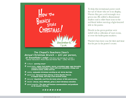 christmas brunch invitations effective invitation posters warren c design