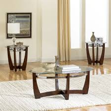 Contemporary Arched Legs Living Room Table Set Coffee Table With - Table and chairs for living room