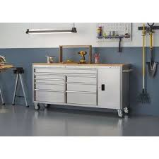 husky 27 in 8 drawer tool chest and cabinet set 8 husky tool chests tool storage the home depot