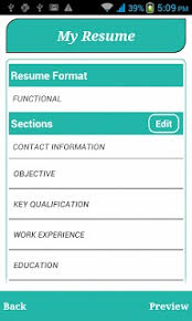 My Resume Builder Free Smart Resume Builder Cv Free Apk Download For Android