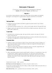 Sample Skills For Resume by Example Chronological Cv