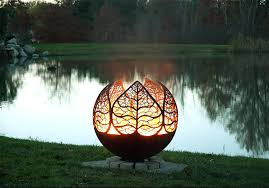 gas fire pit ring hudson outdoor metal fire pit outdoor designs