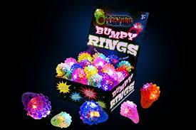 led light up rings kangaroo s flashing led light up toys bumpy rings 18 pack smart